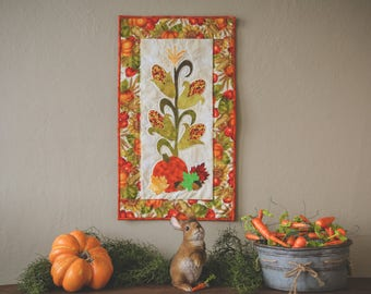 Fall Indian Corn Quilted Wall Hanging