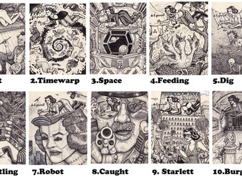 The do it yourself doodler book postcards by david jablow doodler series 20 to choose from solutioingenieria Images
