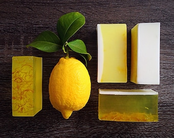 Lemon Soap: Handmade Lemon Soap, Natural Lemon Soap, Lemon Goat Milk Soap, Lemon Bar Soap Lemon Soap Bar Lemon Hand Soap Lemon Handmade Soap