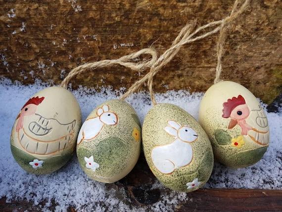 Eggstraordinary Easter Eggs Vintage German Easter Egg Ornaments Set of 4