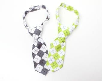 Argyle Boys necktie, neck tie, toddler neck tie, baby necktie, baby boys tie, pick one