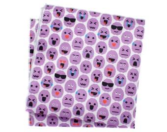 Pocket Square - Brain Emoji - Purple