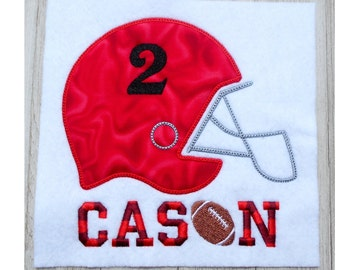 Football helmet embroidery design, sports applique, 3 size machine embroidery design, No fonts or numbers included,  football design, team