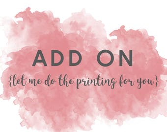 Add On - let me print your artwork for you | Nursery Art