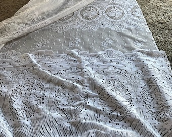 Two 3'x6' long Lace Panels with sewed in valence