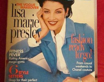On Sale-------1996 VOGUE MAGAZINE With Lisa Marie Presley (Elvis Presley's Daughter) Cover
