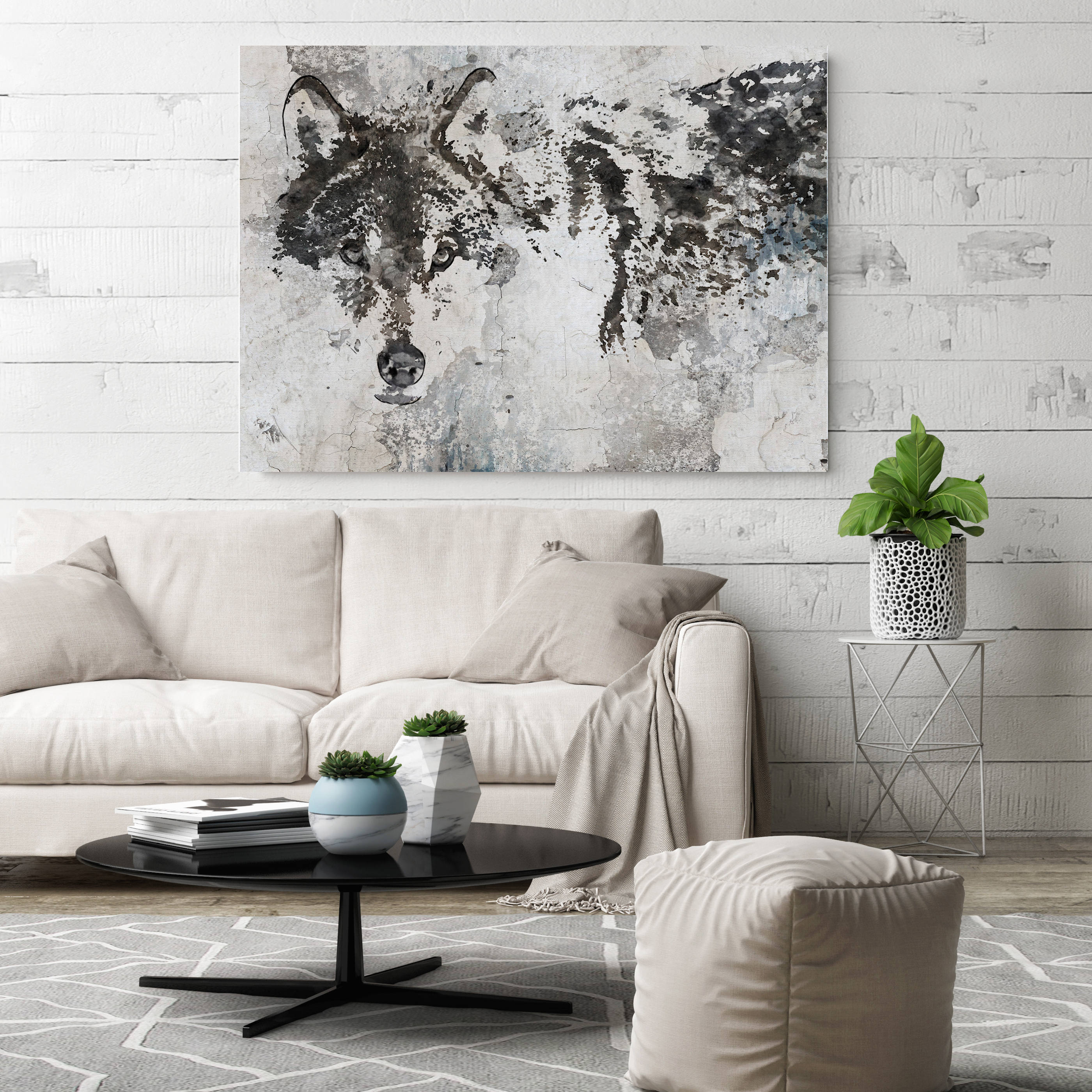 Wolf Canvas Art, Wolf Canvas Painting, Wolf Wall Art, Wolf Painting ...