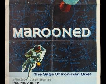 MAROONED original 1969 movie poster sci-fi space NASA