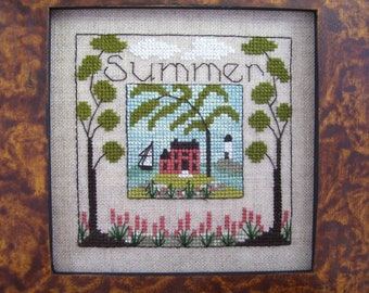 Box of Summer counted cross stitch pattern