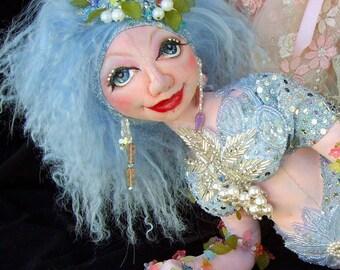 "Crystal Mermaid Of The Lake 21"" Cloth Doll Pattern CD By Caroline Erbsland"