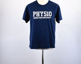 PHYS10 Georgetown University T-Shirt, Medium