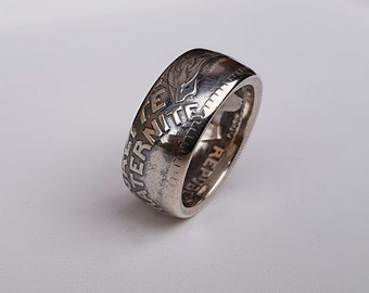Ring coin 20 franc Turin in Silver (coin ring)