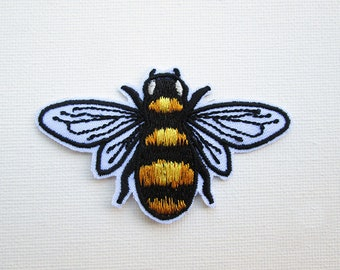 Bumble Bee Embroidered Patch Iron on Honey Bee Patches for Jackets Save the Bees Knees Cute Fashion Bee Applique Insect patch DIY accessory