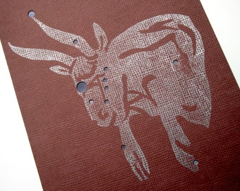 Taurus, The Bull - Shadow Constellations with Greek Illustrations - Greeting Art Card - Celestial Collection DDOTS