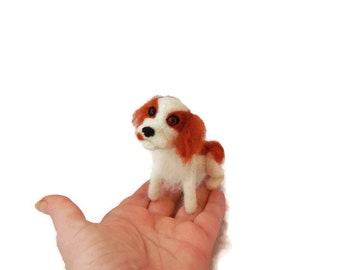 Custom Needle felted dog - Dog Sculpture - Cavalier King Charles Spaniel or any breed of Cat, Dog or Horse of Your Choice Made To Order