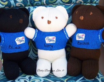 Bear, Los Angeles Dodgers, Baseball, Team Bear, Keepsake, Souvenir, Baby, Baby Shower, Birthday,