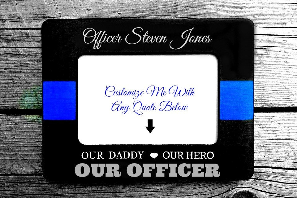 Personalized Police Officer Picture Frame | Thin Blue Line Gift from ...