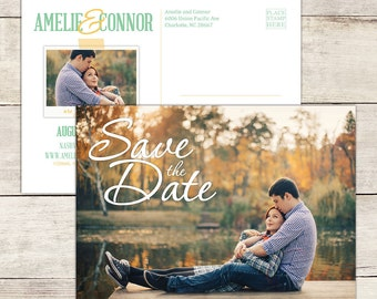 Personalized Printable Save the Date Postcard, Save the Date Printable, Save the Date Card, Save the Date Magnet, Photo Save the Date