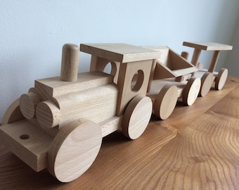 Vintage Toy Train - Solid Beech Wood