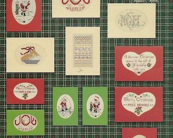 Christmas Greeting Cross Stitch Chart