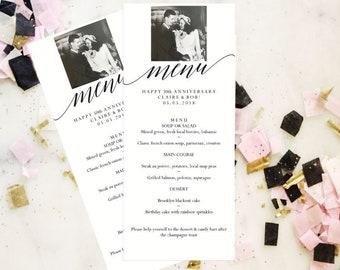 PHOTO Dinner Menu, Wedding Menu Template, Instant Download, Printable Wedding Template, Reception Menu, Printable Menu, Wedding Sign