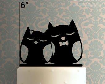 Owl Couple 100 Cake Topper