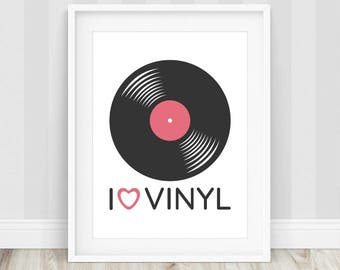 Vinyl Record Print, Vinyl Record, Record Print, Music Art, Music Print, Vinyl Record Art, Music Poster, Gift for Music Lover, Record Player