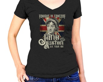Rock and Roll Jane Austen Shirt - Book Lover Shirt - Book Nerd Shirt - Book Worm Shirt - Reader Shirt - (See SIZING INFO in Item Details)