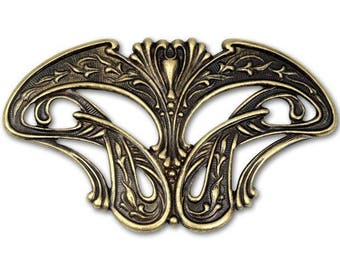 Kabela Design Art Nouveau Brass Stamping,  Length 70mm, Width 52mm  Craft supplies