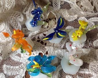Lot vintage blown glass miniatures