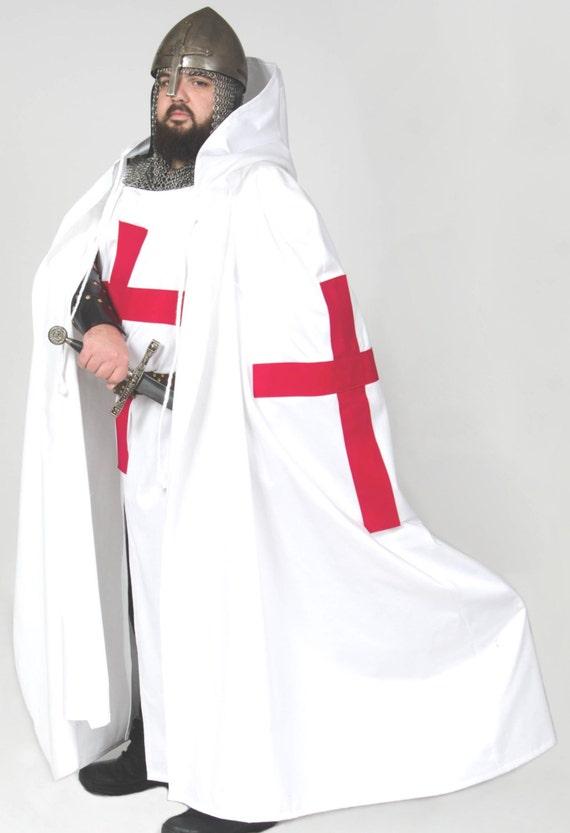 15% DISCOUNT! Knight Crusader Templar Medieval Tunic with Cross xsAnI