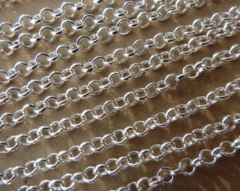 3m, Jasseronkette Ø2,5mm, silber
