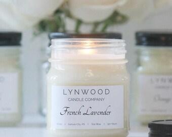 Lavender Candle - Lavender Scented Candle - Lavender Soy Candle - Scented Candles Lavender - Soy Candles Lavender - Candles Lavender