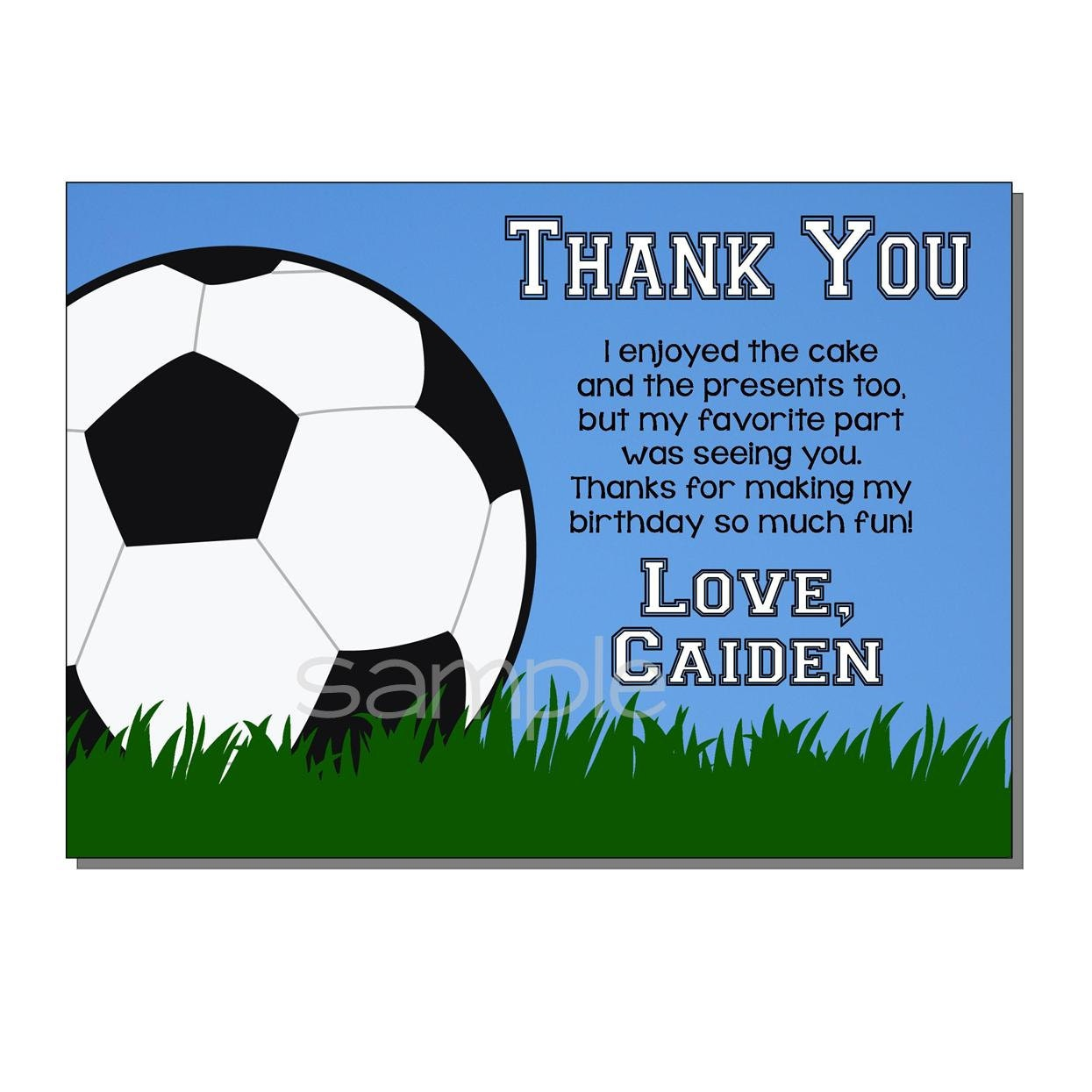Thank You Letter To Soccer Coach