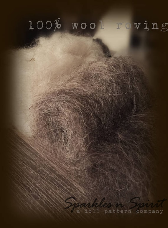 Doll Hair: 100% Wool Roving