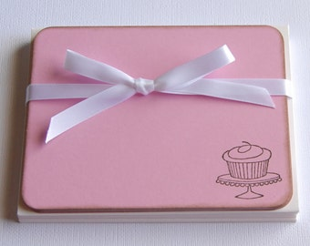 Cupcake Flat Note Cards - set of 10
