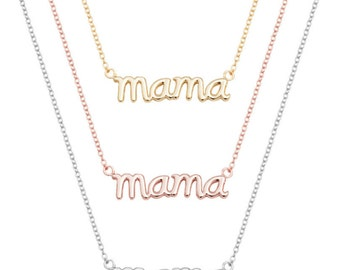 Mama necklace sterling silver, mother necklace, mother gift