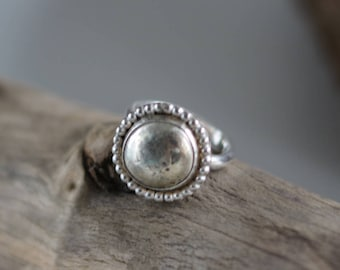 Silver nugget ring, handmade silver ring, boho silver ring, handmade boho ring, sterling silver ring • size 7.25 ring