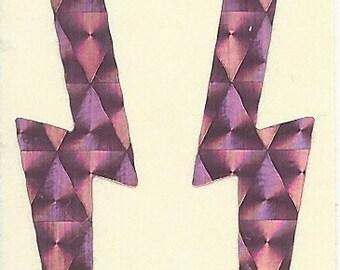 Vintage 80's Prism Pink Lightning Bolt Sticker