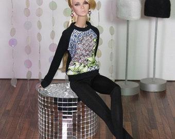 """OOAK Fashion Doll Sweater """"Zentangle Style"""""""