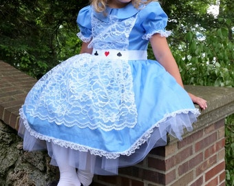 Alice In Wonderland Inspired Costume, Alice Costume, Storybook Outfit, Birthday Outfit, Halloween Costume
