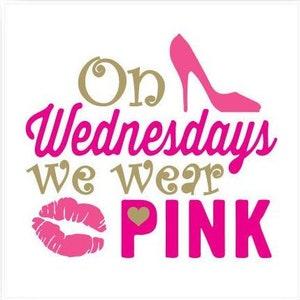 "Mean Girls On Broadway ""On Wednesdays We Wear Pink""  Magnet 3 x 3"