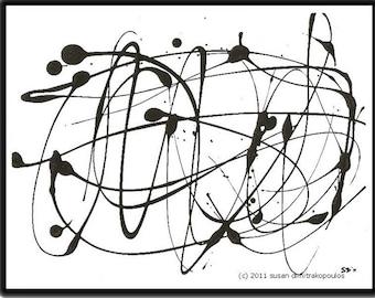 Hypnotique sofortigen Download druckbare Bild digitale Bild abstrakte minimalistische Wand Kunst Wohnkultur Büro Deko abstrakten print schwarz und weiß