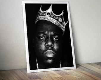 Notorious B.I.G. Biggie Smalls  Rap Hip Hop Music Song Lyric Typography Word Art Print