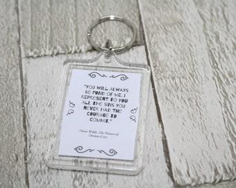 Oscar Wilde Quote Key Ring