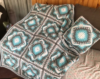 Afghan and Matching Pillow