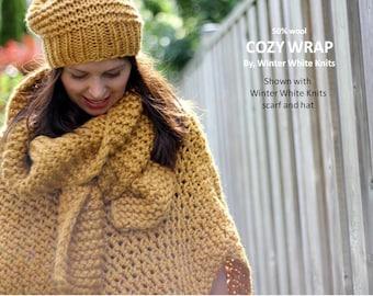COZY CAPE, Winter Cape Coat, Winter coat, Knit poncho, wool cape, knit cape, Crochet poncho, Chunky knit cape, Wrap sweater, Soft and cozy