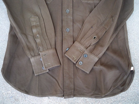 Uniform Army Shirt Gabardine Made Size Vintage Military US Men's Large 1940s Regulation in USA WWII Wool 0qSAEzw