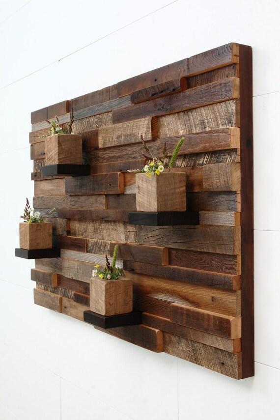 Wooden shelf wall decor