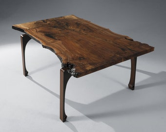 Gladstone Dining Table, Claro walnut table, live edge dining table